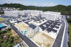 災害公営住宅小名浜団地航空写真